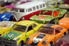 D'annata poche automobili del giocattolo Fotografie Stock