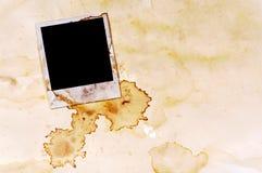 D'annata struttura della stampa della foto dello spazio in bianco di stile della polaroid macchiata vecchio album di foto Immagine Stock