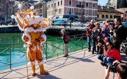 D Annecy 2012 de Venitien de carnaval Image libre de droits