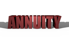 3D Annuity Illustration Stock Images