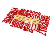 3D ano 2015 Fotos de Stock Royalty Free