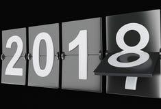 3d ano novo 2018 Imagem de Stock