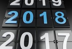 3d ano novo 2018 Imagens de Stock