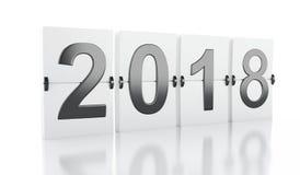 3d ano novo 2018 Fotografia de Stock