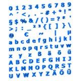 3D-Ansicht des Alphabetes lizenzfreie abbildung