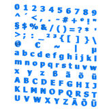 3D-Ansicht des Alphabetes stock abbildung