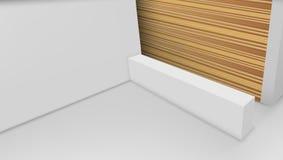 3D-Ansicht eines Büro-Aufnahme-Schreibtisches Bereiten Sie für das Einbrennen vor lizenzfreie abbildung