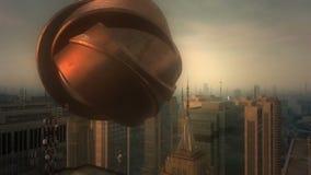 3d anteny miasto ilustracji
