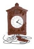 3d antieke klok 2 van de koekoeksmuur Royalty-vrije Stock Afbeeldingen