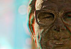 3D Anton Buttigieg - Anaglyph Stock Afbeeldingen