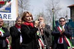 D'antona in 25 april 2010 Italië, marzabotto royalty-vrije stock fotografie