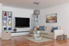 3d - apartamento moderno de lujo del desván Fotos de archivo