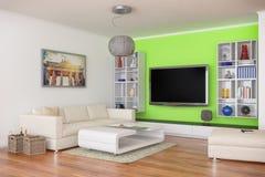 3d - apartamento moderno de lujo del desván - 44 tirados Imagen de archivo