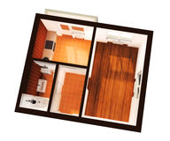 3d apartment plan. 3d appartment  plan isolated on white Stock Photo
