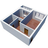 3d apartment plan. Isolated render on a white background Royalty Free Stock Photography