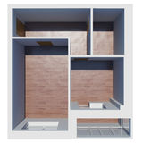 3d apartment plan. Isolated render on a white background Royalty Free Stock Images