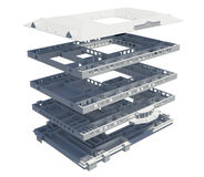 3d apartment plan. Isolated render on a white background Stock Photos