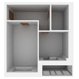 3d apartment plan. Isolated render on a white background Royalty Free Stock Image
