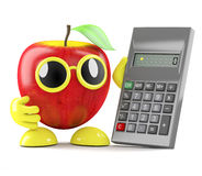 3d Apple accountant Royalty Free Stock Photos