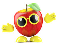 3d Apple with arms outstretched Stock Image