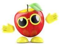 3d Apple con los brazos extendidos stock de ilustración