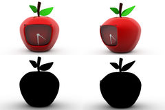 3d apple concept collections with alpha and shadow channel Stock Image