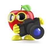 3d Apple facendo uso di una macchina fotografica Immagine Stock