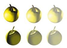 3d Apple op witte achtergrond Royalty-vrije Stock Foto's