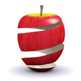 3d Apple peel. 3d render of apple peel Royalty Free Stock Photos
