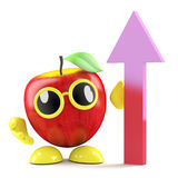 3d Apple see's growth Stock Photography
