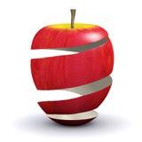 3d Apple si sbucciano Fotografie Stock Libere da Diritti