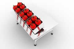 3d Apple On Table Royalty Free Stock Photography