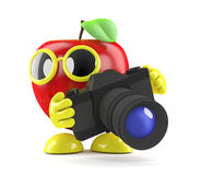3d Apple using a camera Stock Image