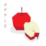 3D Apple vermelho Vector Foto de Stock