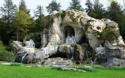 d'Appolon bonito de Bains da fonte em Versalhes Fotografia de Stock