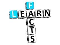 3D apprennent des mots croisé de faits Images stock