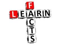 3D apprennent des mots croisé de faits Photographie stock