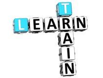 3D apprennent des mots croisé de train Image libre de droits