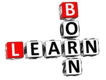 3D apprennent les mots croisé nés Image libre de droits