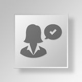 3D Approve icon Business Concept Stock Photo