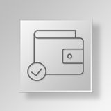 3D approve wallet icon Business Concept Royalty Free Stock Photo