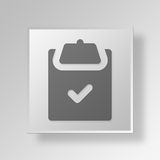 3D approved icon Business Concept. 3D Symbol Gray Square approved icon Business Concept Royalty Free Stock Images