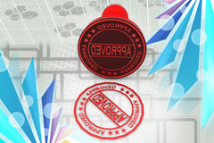 3d approved stamp illustration Royalty Free Stock Images