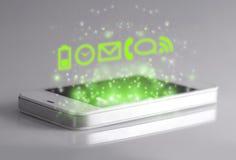3d apps met smartphone Royalty-vrije Stock Fotografie
