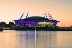 ` D'arène de St Petersburg de ` de stade dans le coucher du soleil de mai Photographie stock libre de droits