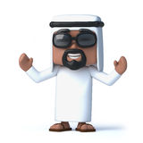 3d Arab cheers Stock Images