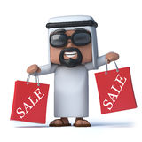 3d Arab has been to the Sales Royalty Free Stock Photography