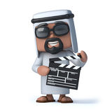 3d Arab makes a movie Stock Images