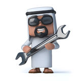 3d Arab mechanic Stock Images