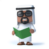 3d Arab reads a book Stock Photography